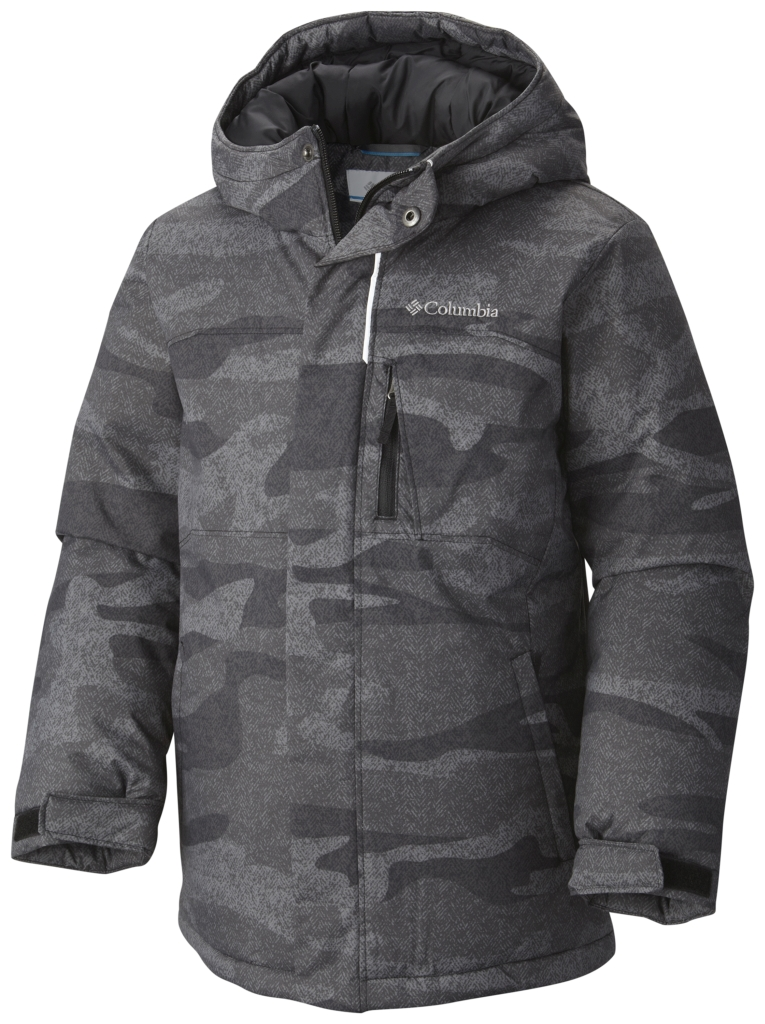 Columbia Boy's Alpine Free Fall Jacket Black Camo-30
