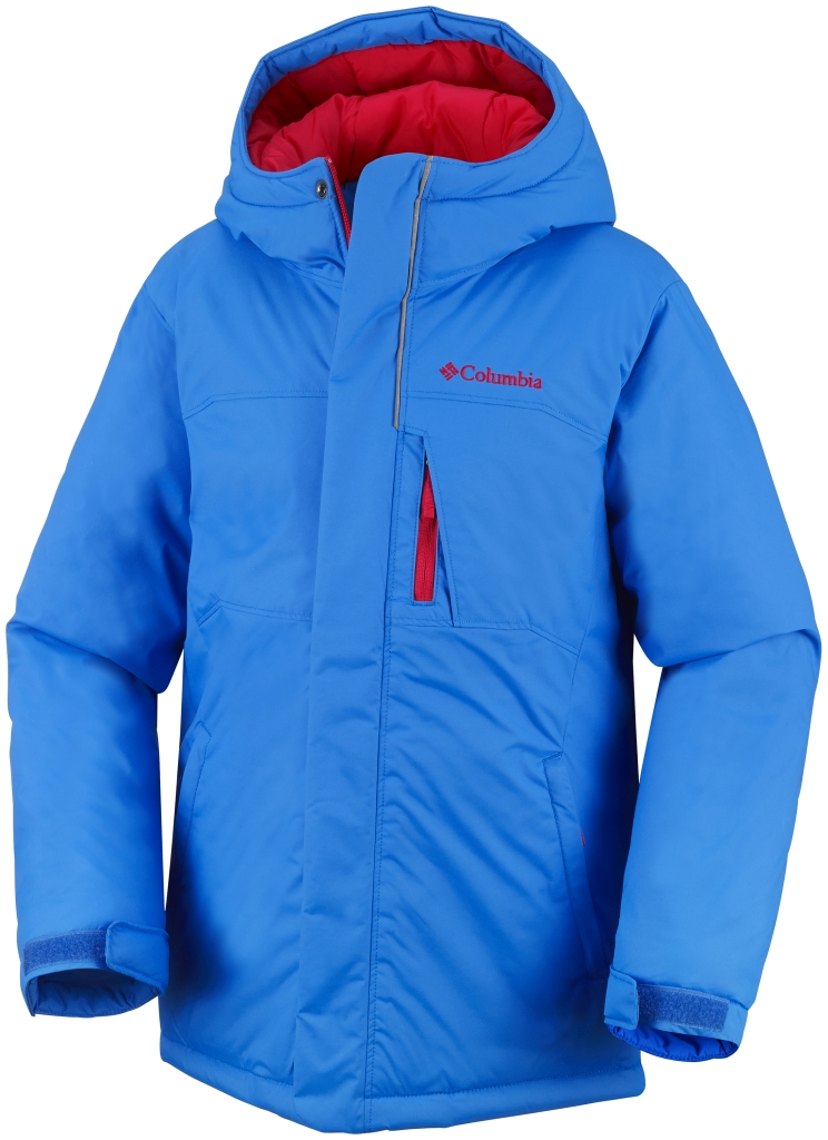 Columbia Boy's Alpine Free Fall Jacket Hyper Blue Bright Red-30