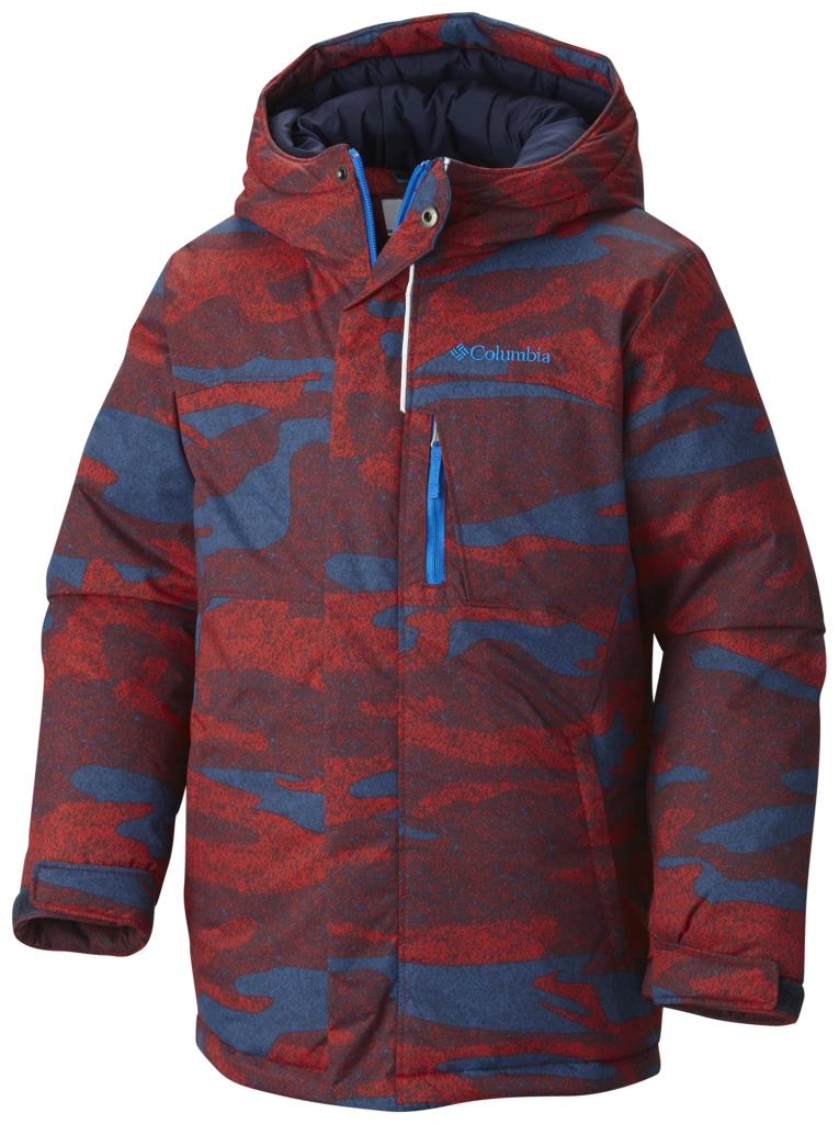 Columbia Boy's Alpine Free Fall Jacket Bright Red Camo-30