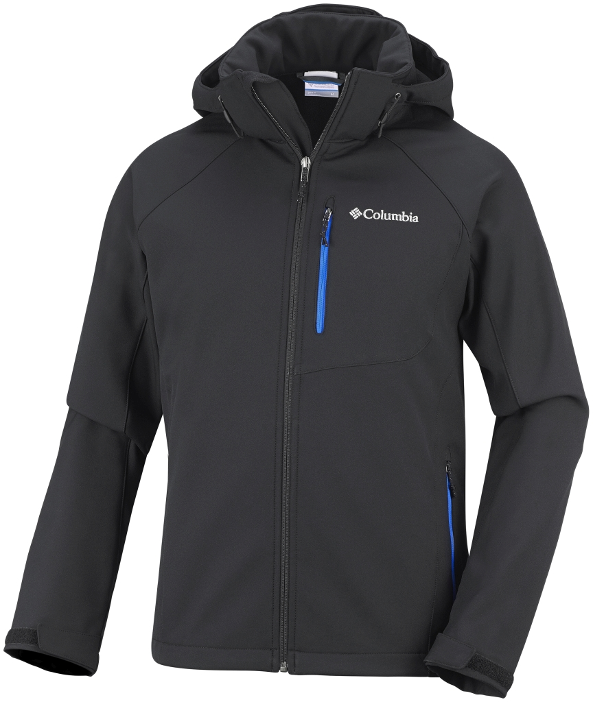 Columbia Men's Cascade Ridge II Softshell Black Hyper Blue-30
