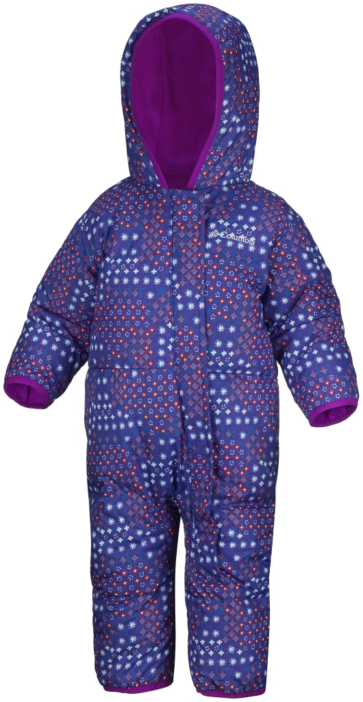Columbia Snuggly Bunny Bunting Infant Blue Macaw Print Bright Plum-30