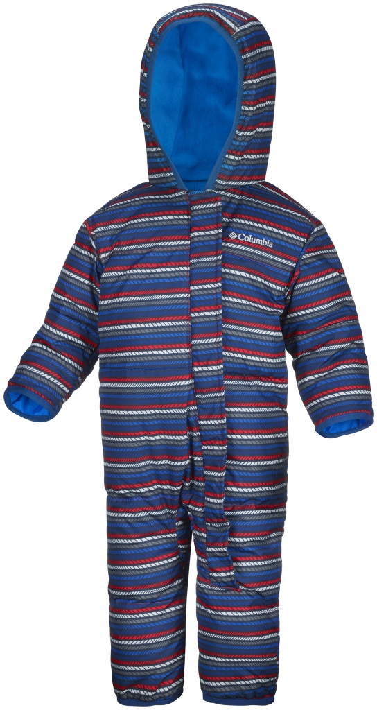 Columbia Snuggly Bunny Bunting Infant Marine Blue Stripe-30