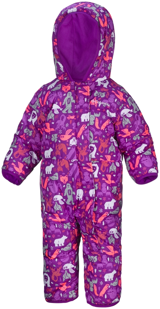 Columbia Snuggly Bunny Bunting Infant Bright Plum Animal Print-30