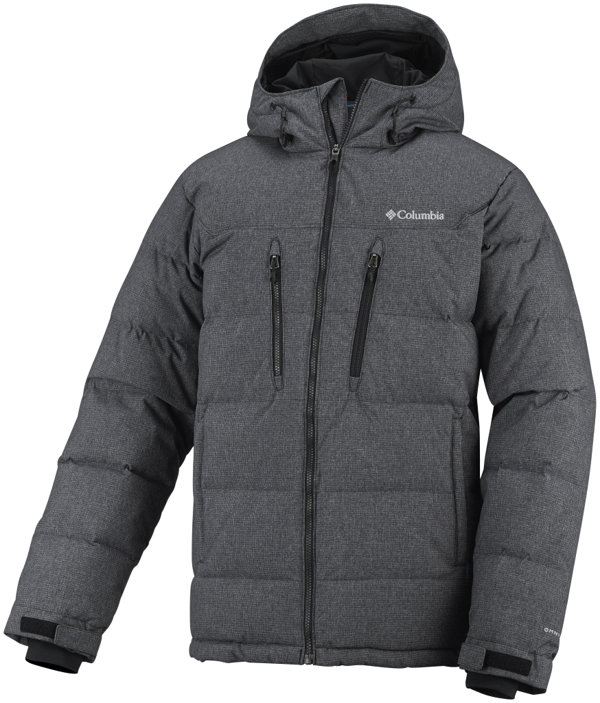 Columbia Men'S Alaskan II Down Hooded Jacket Black Novelty-30