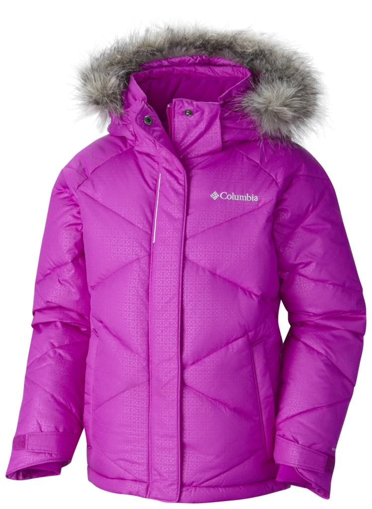 Columbia Girl'S Mini Lay D Down Jacket Bright Plum Emboss-30