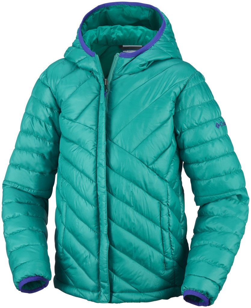 Columbia Girls' Powder Lite Puffer Mayan Green-30