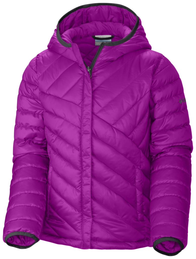 Columbia Girls' Powder Lite Puffer Bright Plum-30