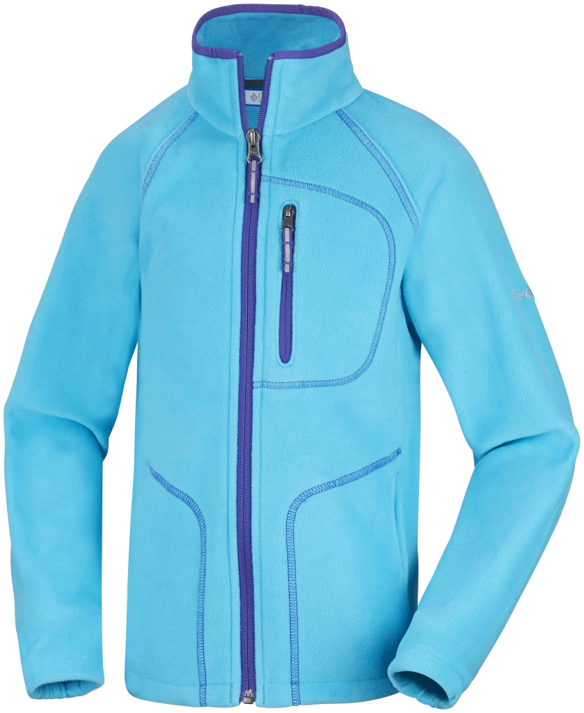 Columbia Youth Fast Trek II Full Zip Atoll Light Grape-30