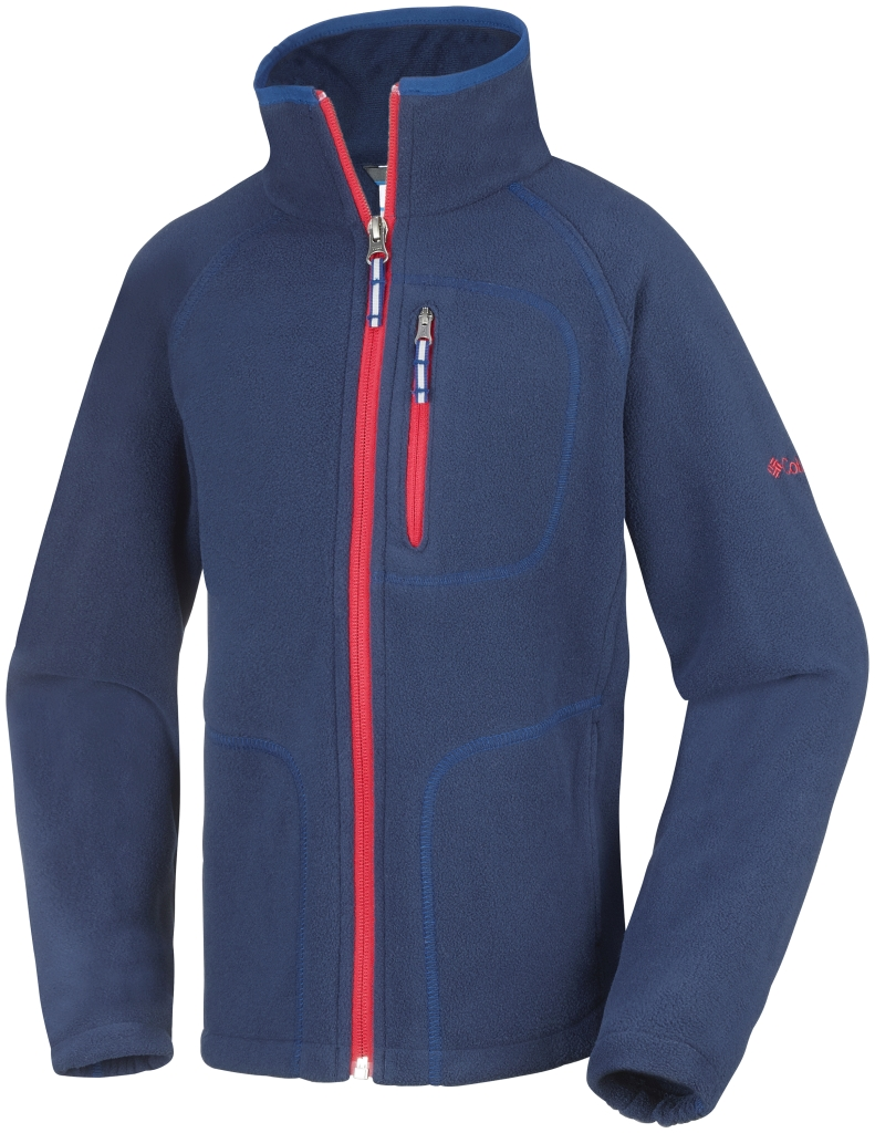 Columbia Youth Fast Trek II Full Zip Collegiate Navy Marine Blue-30