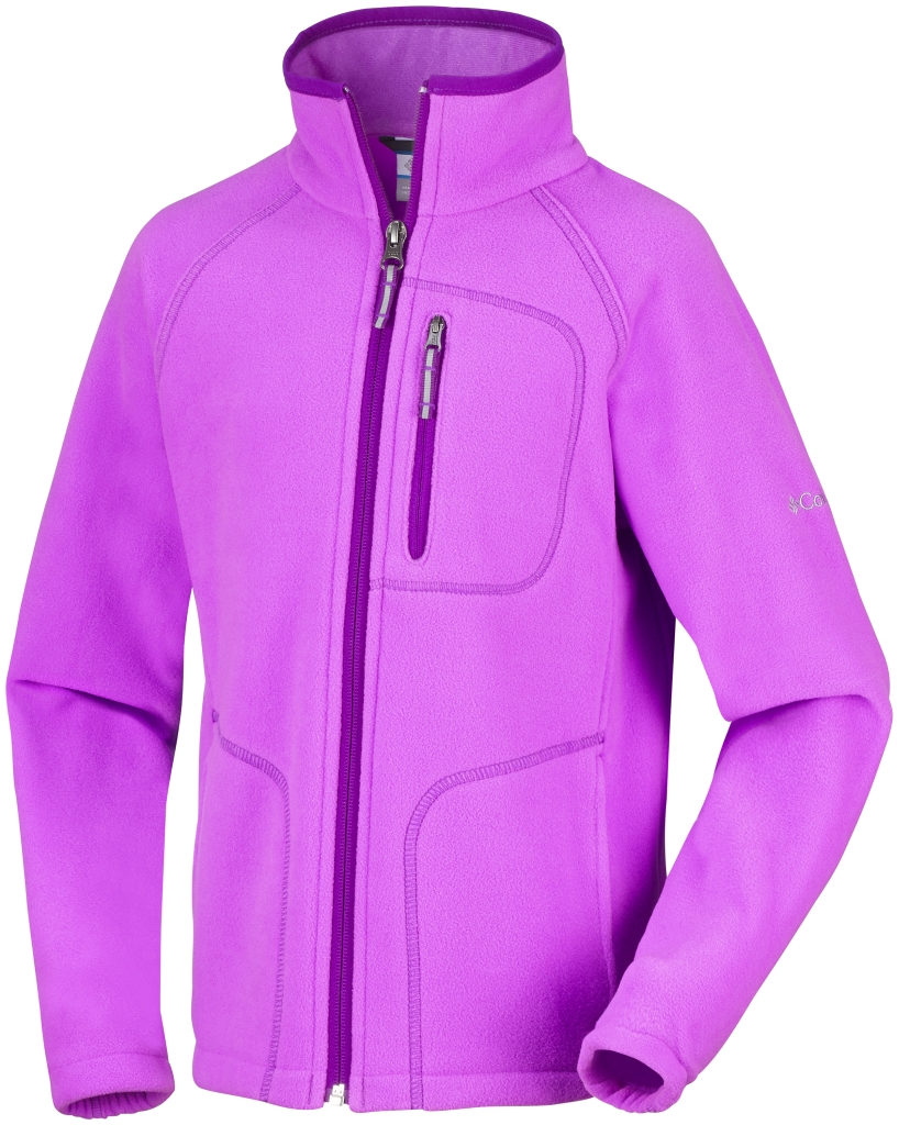 Columbia Fast Trek II Full Zip Für Kinder Foxglove Bright Plum-30