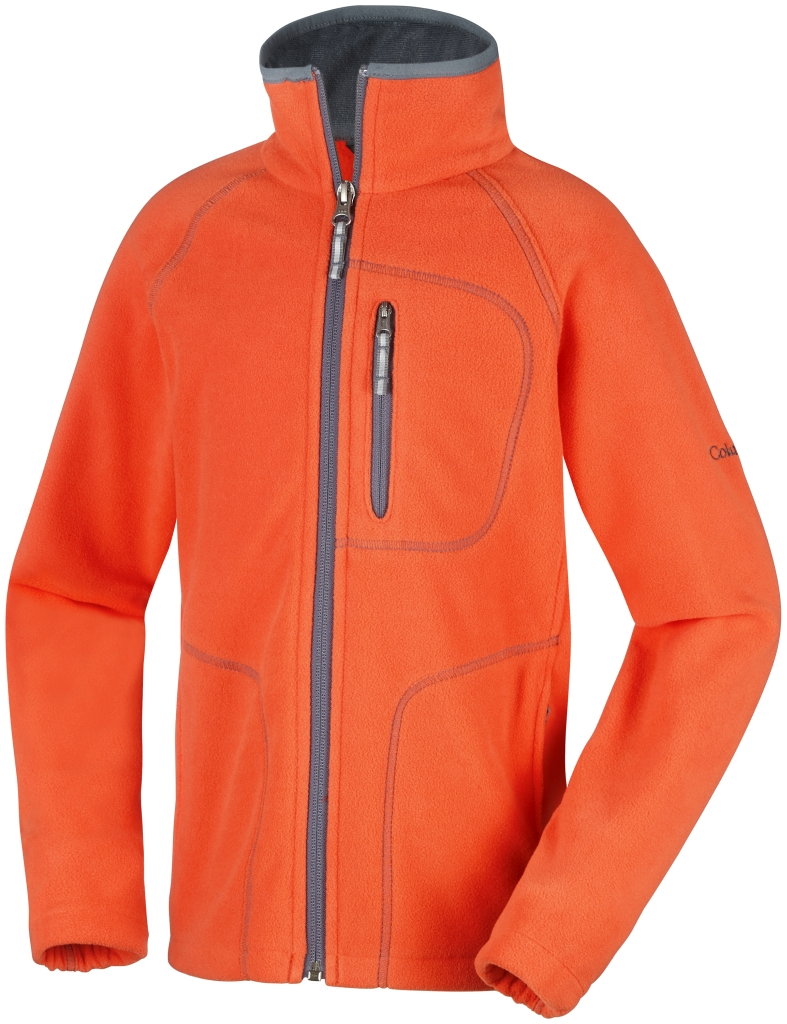 Columbia Youth Fast Trek II Full Zip Tangy Orange Graphite-30