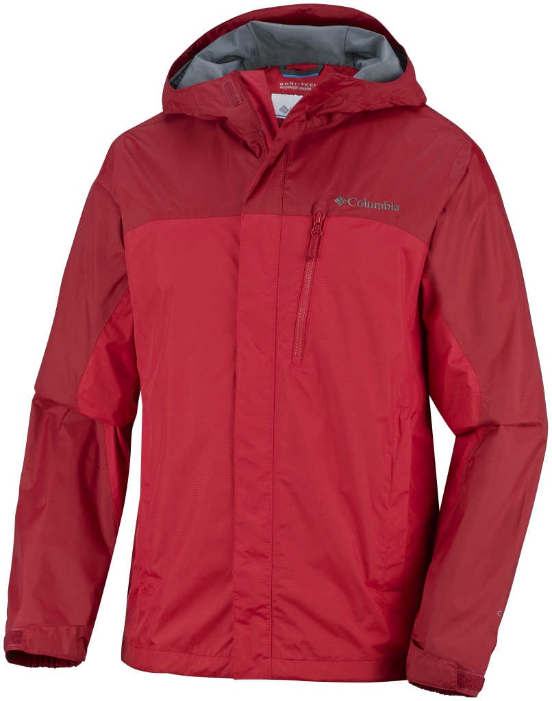 Columbia Men'S Pouring Adventure Jacket Bright Red-30