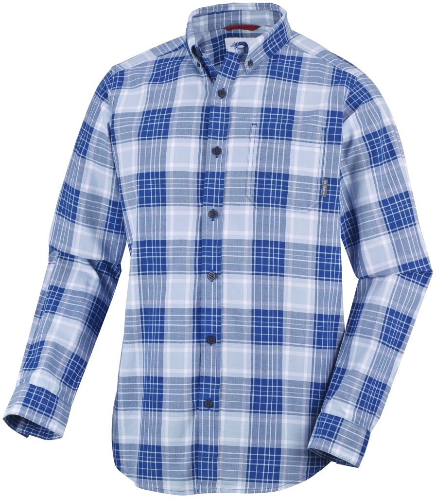 Columbia Men's Rapid Rivers II Long Sleeve Shirt Marine Blue Plaid-30