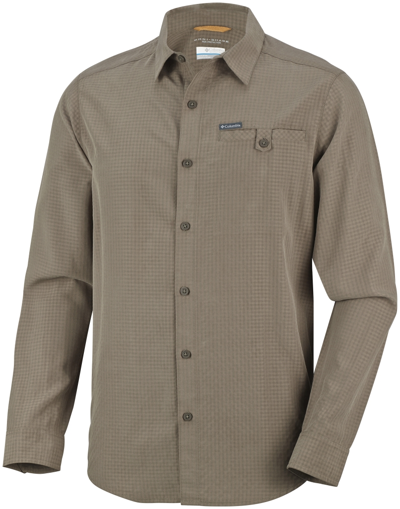 Columbia Men's Declination Trail II Long Sleeve Shirt Major Small Plaid-30