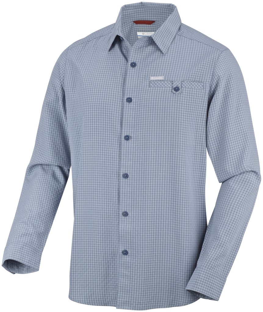 Columbia Men's Declination Trail II Long Sleeve Shirt Mountain Small Plaid-30