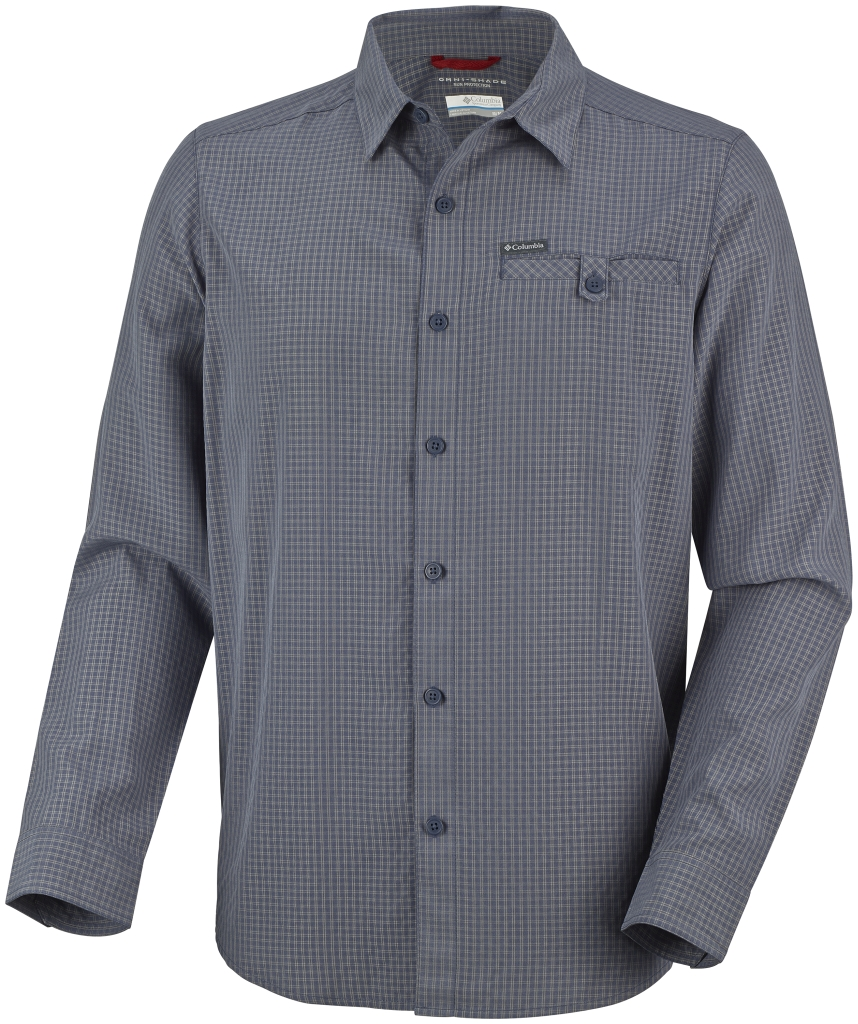 Columbia Men's Declination Trail II Long Sleeve Shirt Nocturnal Small Plaid-30