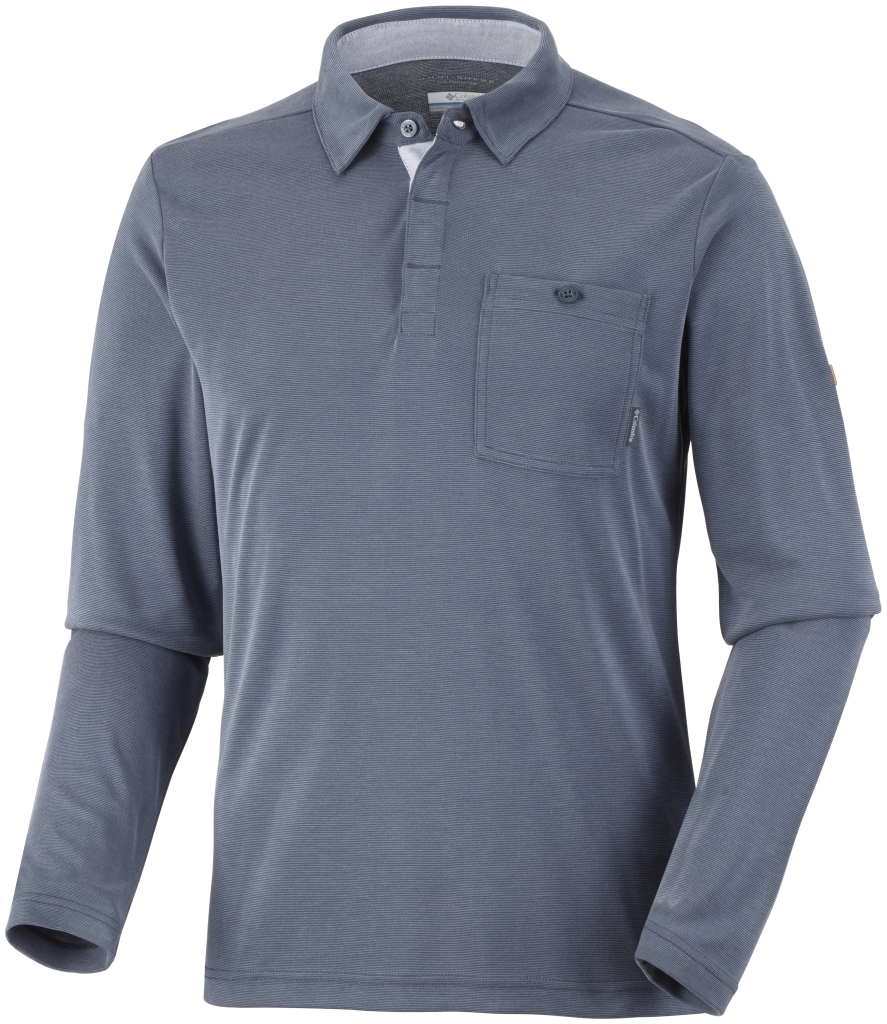 Columbia Men's Sun Ridge II Long Sleeve Polo India Ink-30