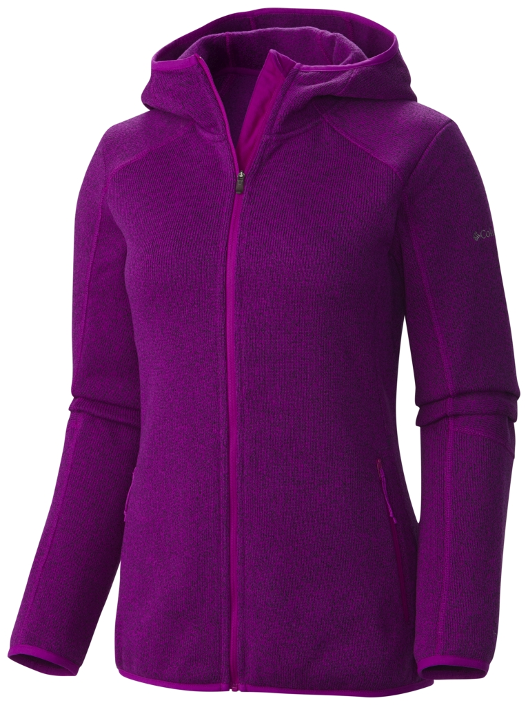 Columbia Women's Altitude Aspect Hooded Fleece Jacket Full Zip Bright Plum-30