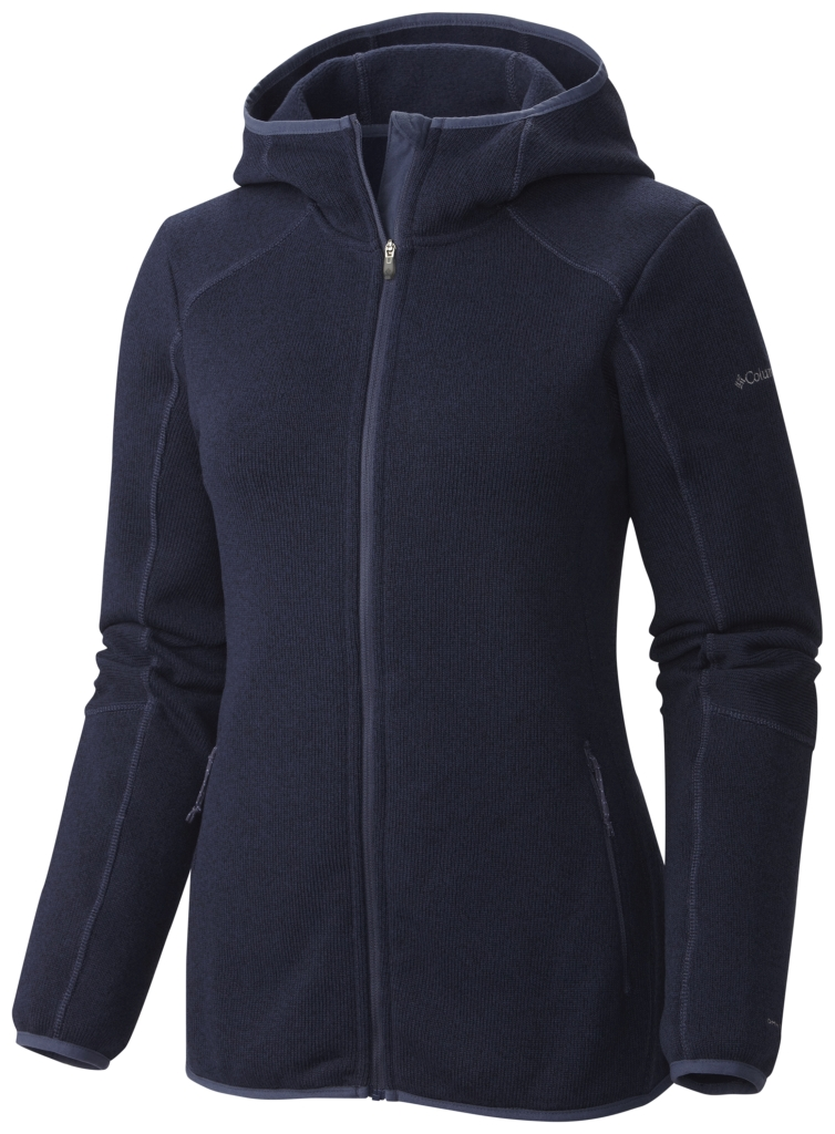 Columbia Women's Altitude Aspect Hooded Fleece Jacket Full Zip Nocturnal-30
