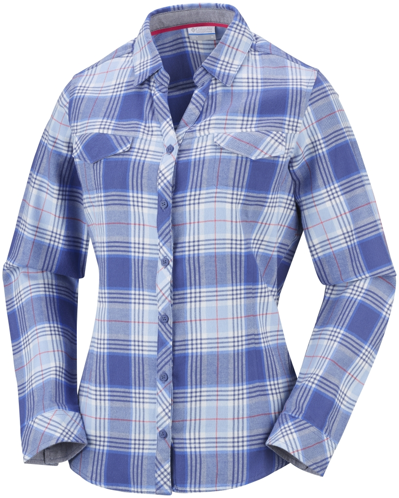 Columbia Women´s Simply Put II Flannel Shirt Bluebell Plaid-30
