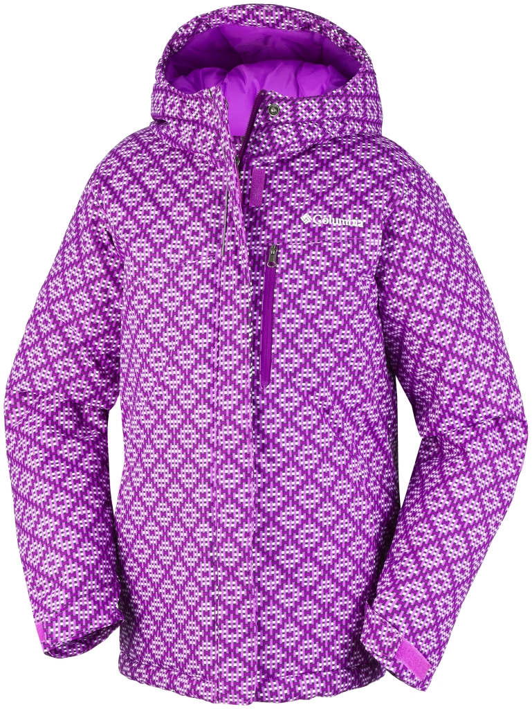 Columbia Girls' Alpine Free Fall Jacket Bright Plum Print-30