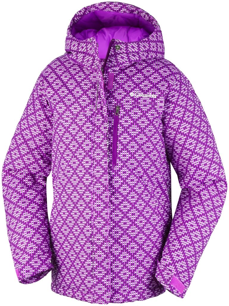 Columbia Girls' Alpine Free Fall Jacket Bright Plum Print-30