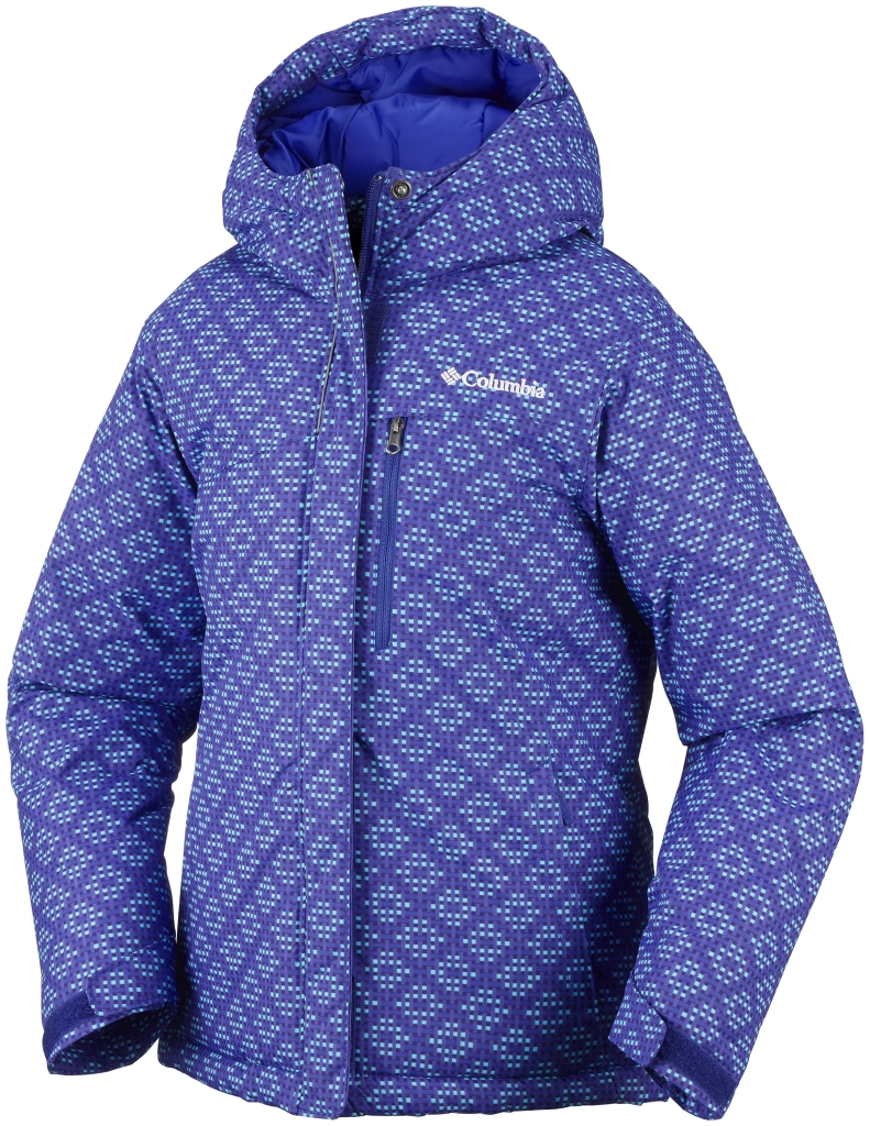 Columbia Girls' Alpine Free Fall Jacket Light Grape Print-30