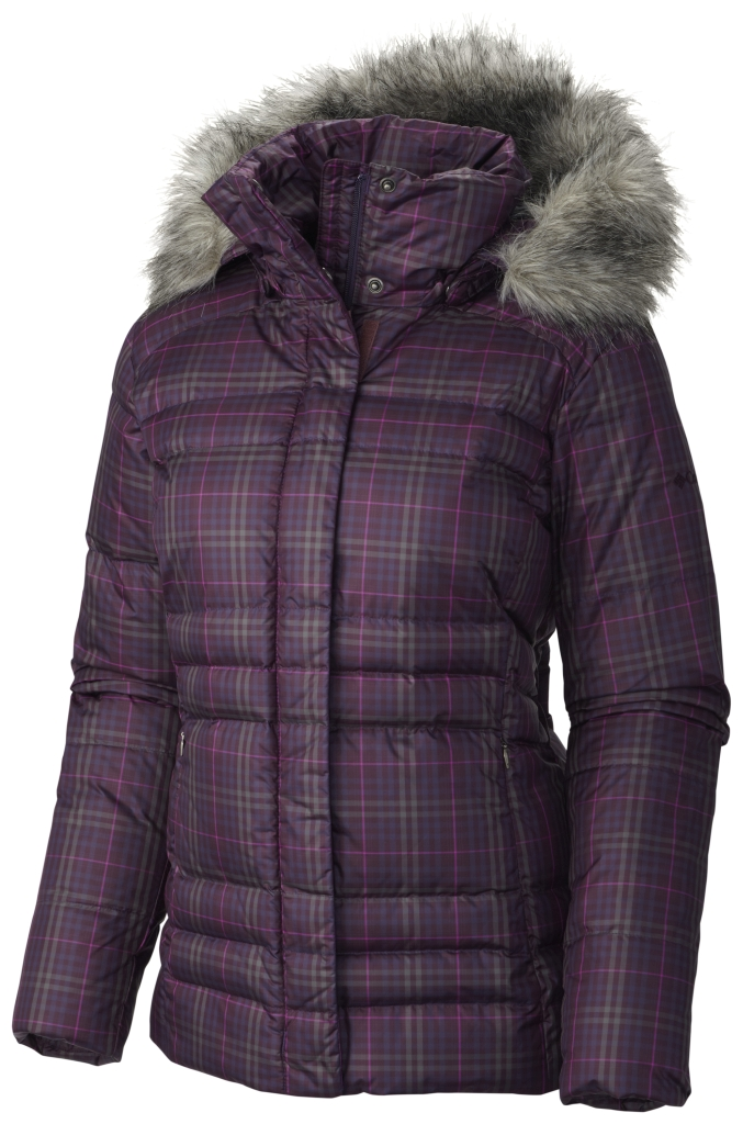 Columbia Women's Mercury Maven Iv Jacket Purple Dahlia Plaid Print-30