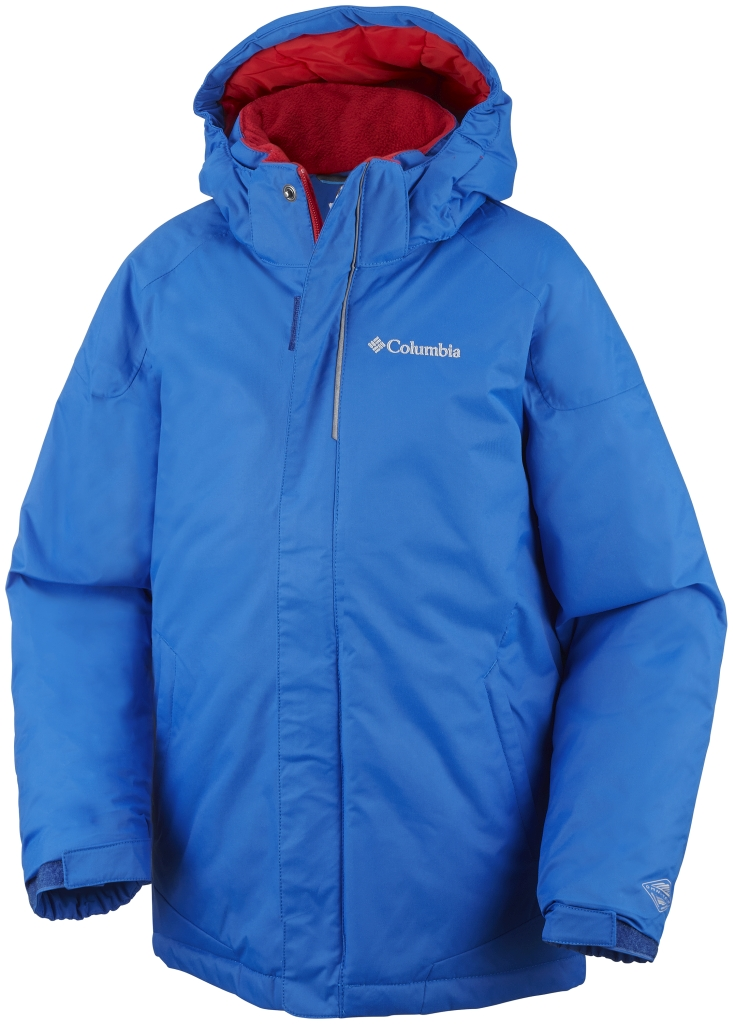 Columbia Boys' Twist Tip Jacket Hyper Blue Bright Red-30