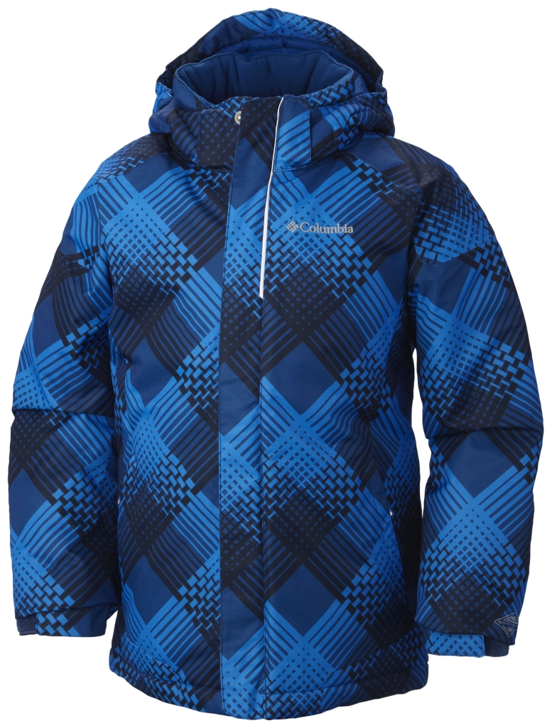 Columbia Boys' Twist Tip Jacket Marine Blue Plaid-30