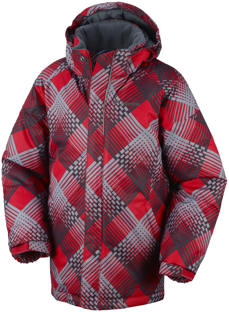 Columbia Twist Tip Jacke Für Jungen Bright Red Plaid-30