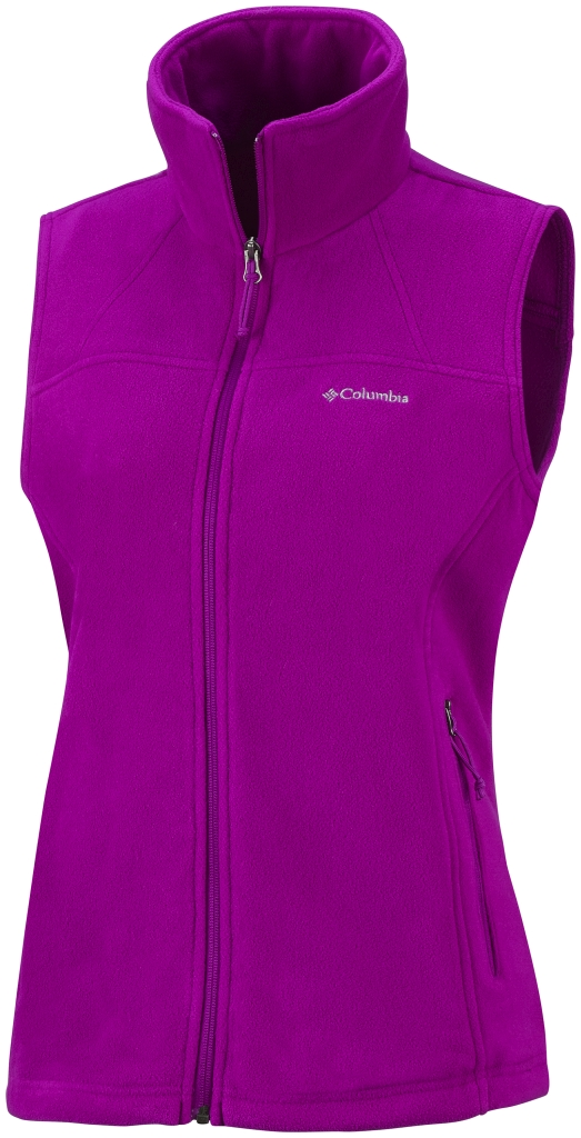 Columbia Women's Fast Trek Fleece Vest Bright Plum-30