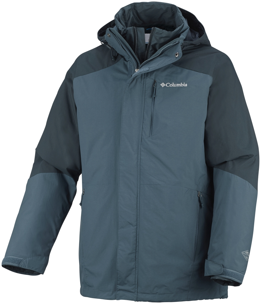 Columbia Men's Element Blocker Interchange Jacket Everblue Night Shadow-30