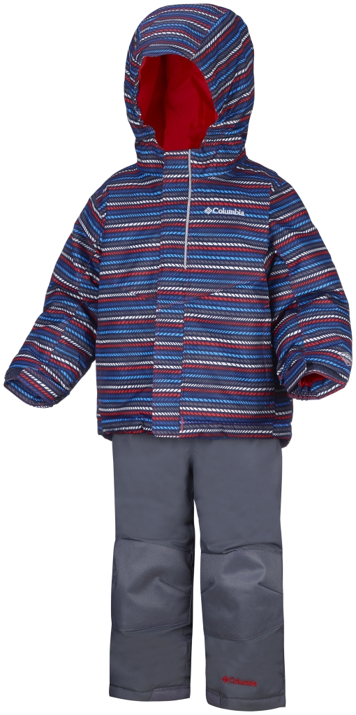 Columbia Youth Buga Set – Toddler Bright Red Stripe-30