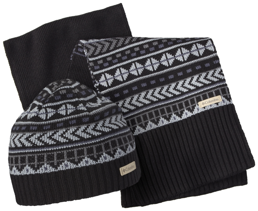 Columbia Winter Worn Hat And Scarf Set Black-30