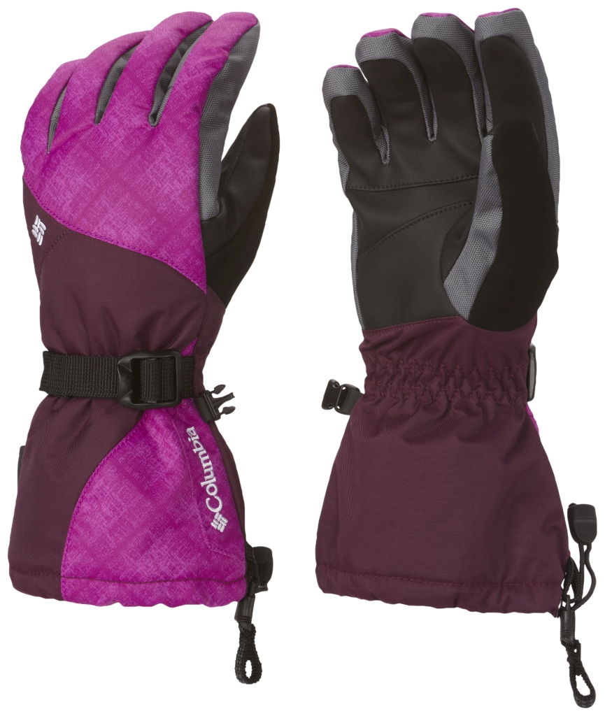 Columbia Women's Whirlibird Ski Glove Bright Plum Plaid-30