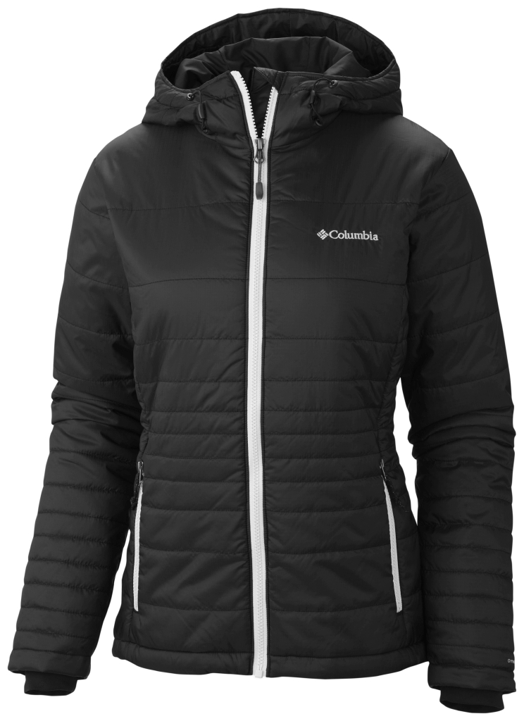 Columbia Women's Go To Hooded Jacket Black White-30