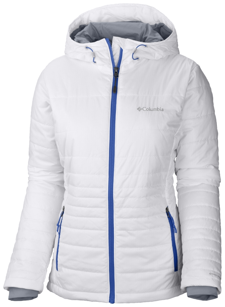 Columbia Women's Go To Hooded Jacket White Blue Macaw-30