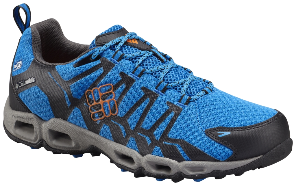 Columbia Men's Ventrailia Outdry Trail Shoe Hyper Blue Heat Wave-30