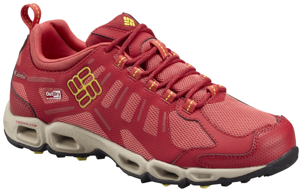 Columbia Women's Ventfreak Outdry® Multi-Sport Shoe Sunset Red Acid Yellow-30