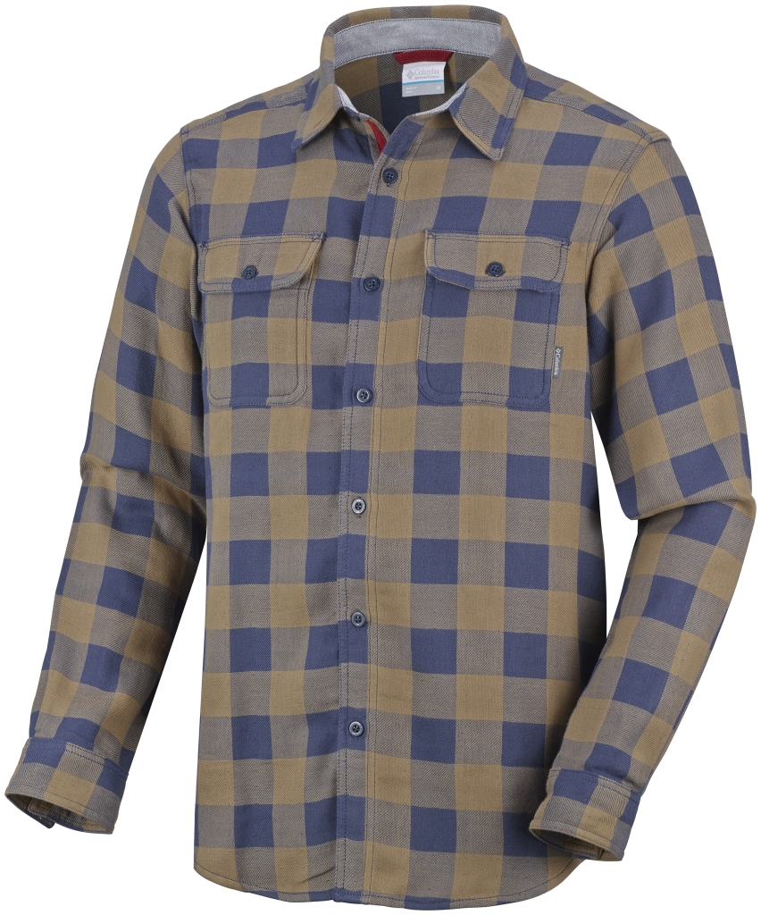 Columbia Men´s Falldale Double Cloth Long Sleeve Shirt Nocturnal Plaid-30