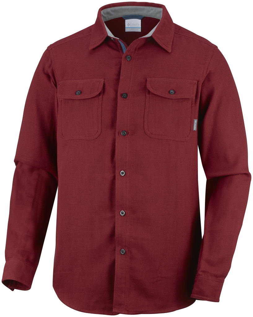Columbia Men´s Falldale Double Cloth Long Sleeve Shirt Red Element-30