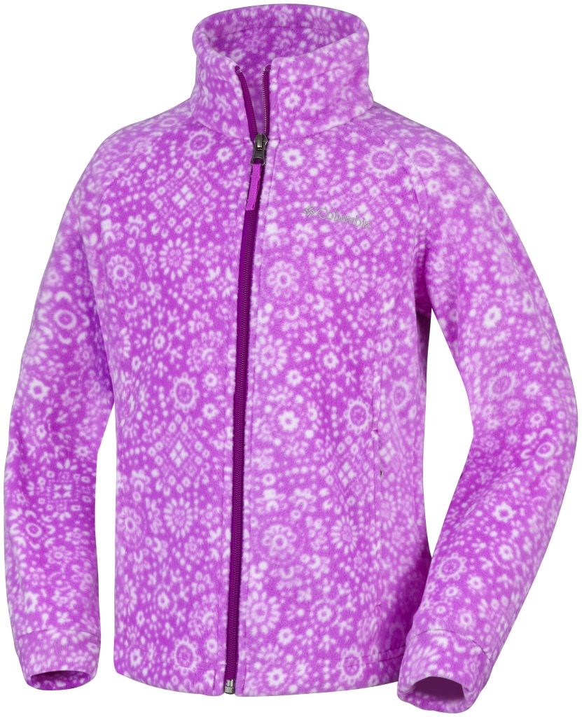 Columbia - Girl's Benton Springs II Printed Fleece Foxglove Paisley Print - Fleece Jackets - S