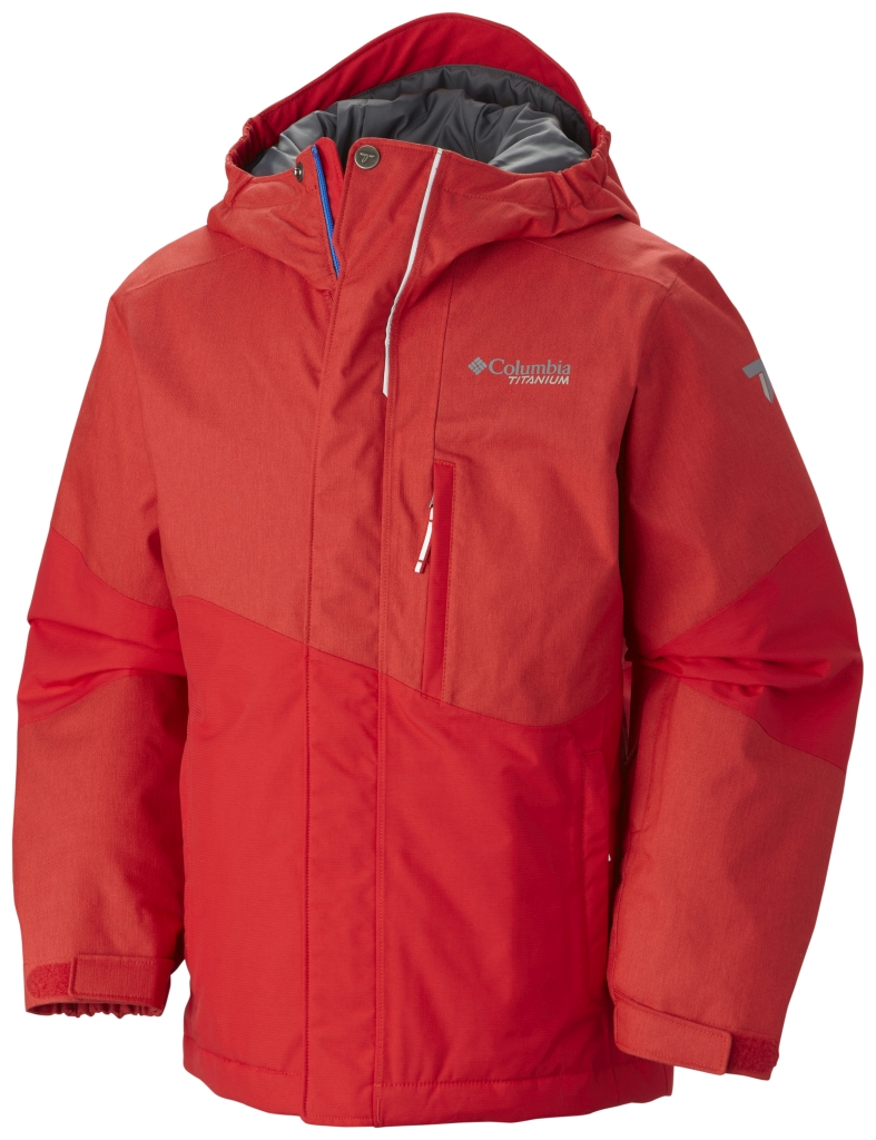 Columbia Boy's Shreddin' Jacket Bright Red-30