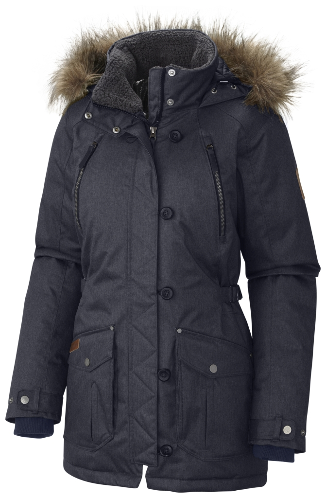 Columbia Women's Barlow Pass 550 Turbodown Jacket India Ink-30