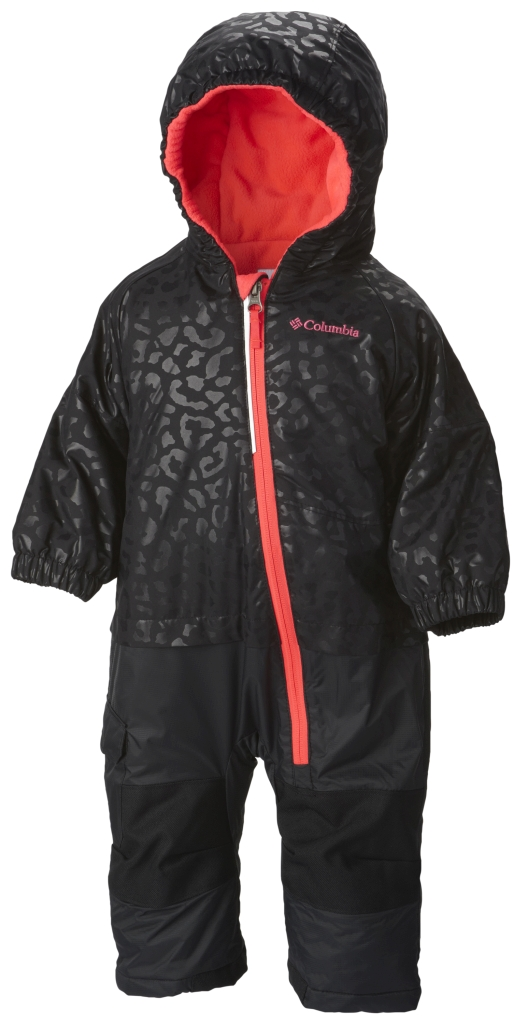 Columbia - Infant Little Dude Suit Black Cheetah - Laser Red - Winter Jackets - 18/24