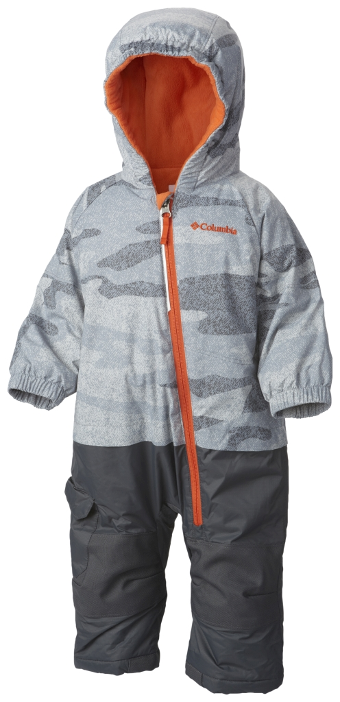 Columbia Infant Little Dude Suit Tradewinds Grey Camo Tangy Or-30