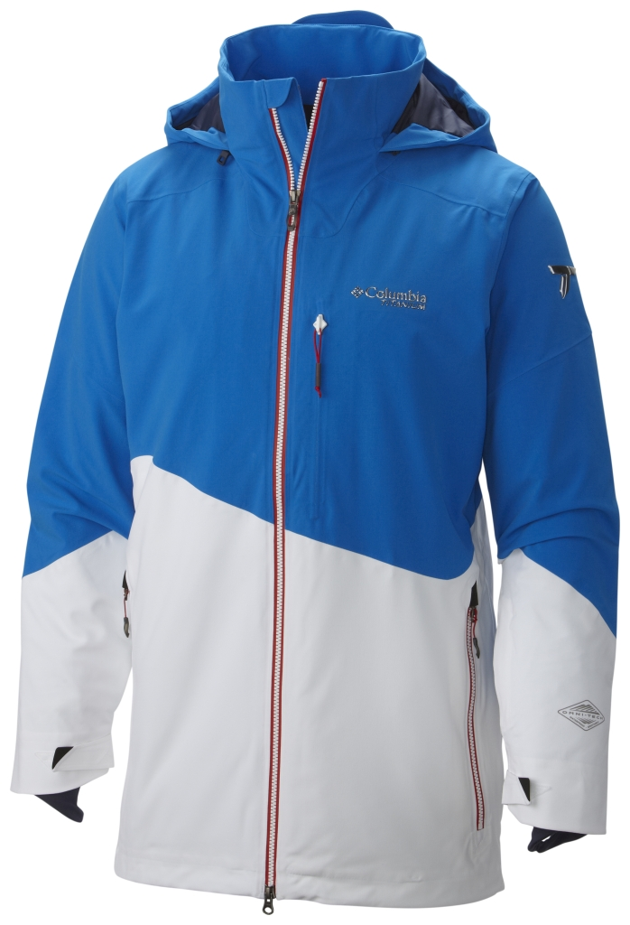Columbia Men's Shreddin' Jacket Hyper Blue White-30