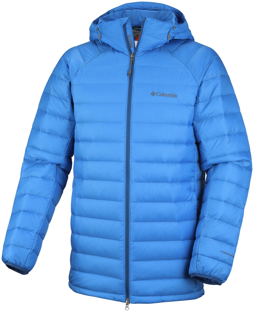 Columbia Men´s Platinum Plus 860 Turbodown Hooded Jacket Hyper Blue-30