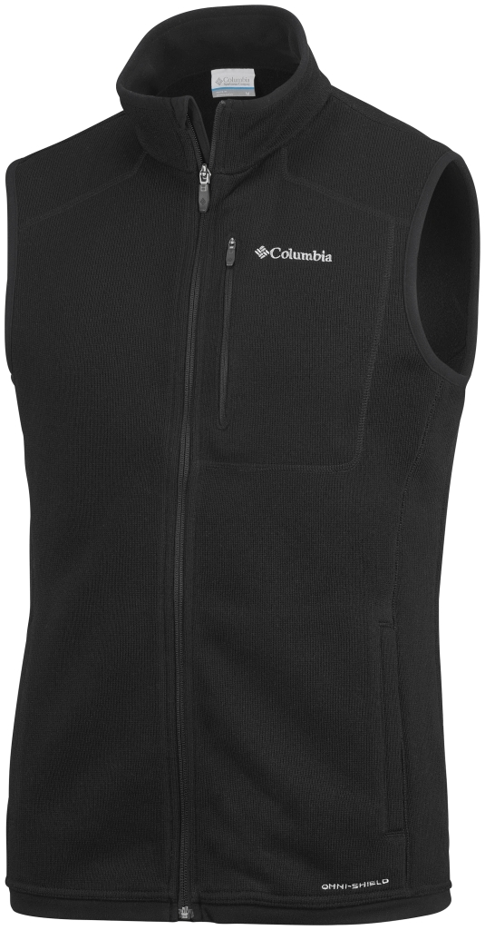 Columbia Men's Altitude Aspect Vest Black Heather-30